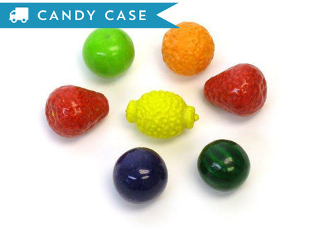 Dubble Bubble Seedling Fruit Gumballs - bulk 18.5 lb case (850 ct)