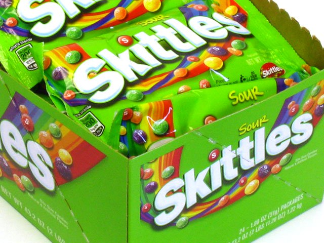 Skittles Sour - 1.8 oz pkg - box of 24