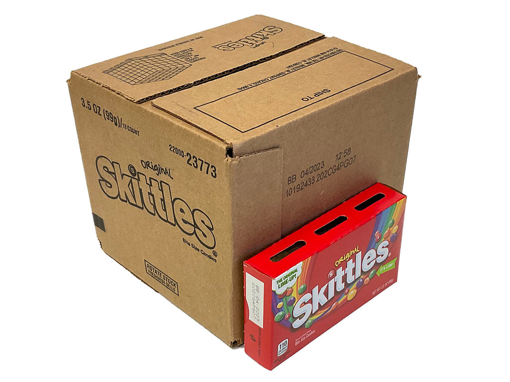 Skittles in a box