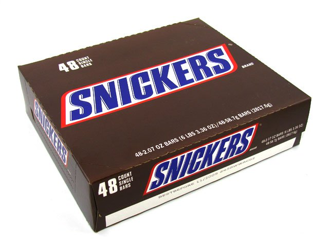 Snickers 1 86 oz Candy Bar box of 48 - OldTimeCandy com