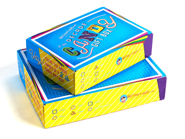 2 and 4 lb Decade Candy Gift Boxes without a box top
