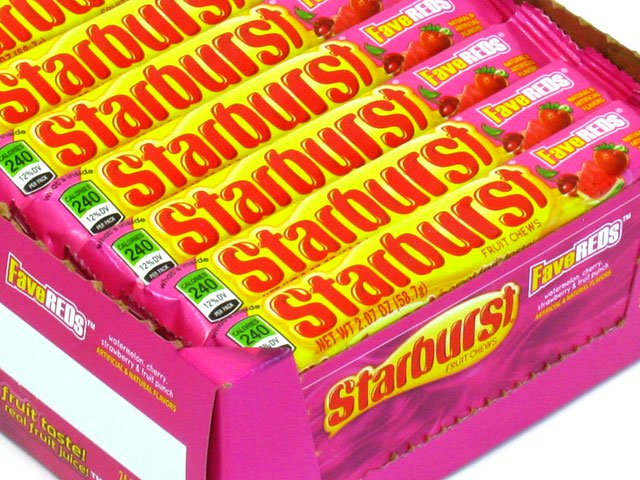 Starburst FaveReds 2.07 oz roll - box of 24