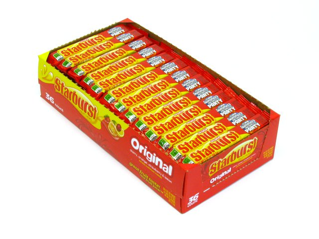 Starburst Original - 2.07 oz roll - box of 36