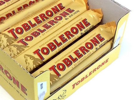 Toblerone 1.76 oz Milk Chocolate Bar - box of 24