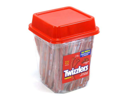 Twizzlers Strawberry Twists - wrapped - plastic tub of 105 pcs