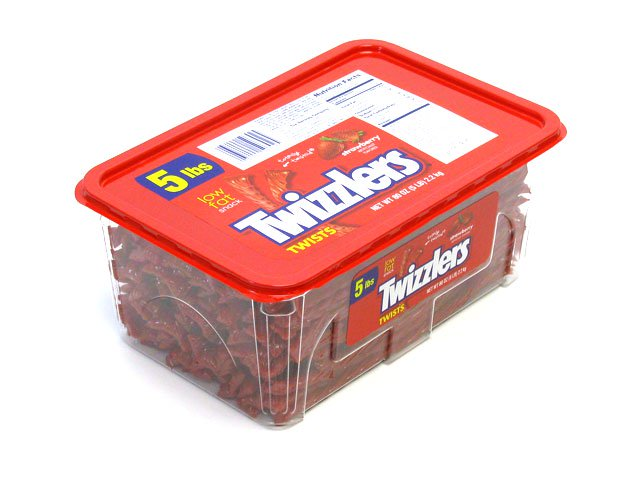 Twizzlers Strawberry Twists - 5 lb plastic tub