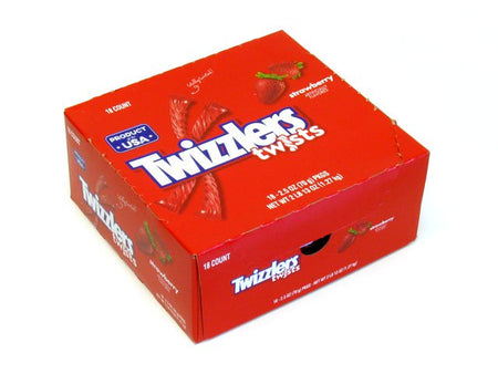 Twizzlers Strawberry Twists - 2.5 oz - box of 18