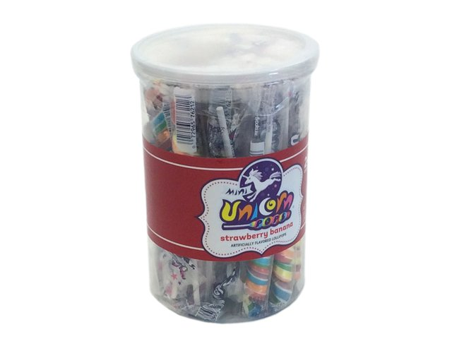 Unicorn Pops - 6 inch (0.4 oz) - plastic tub of 24