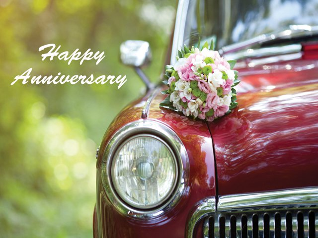 Anniversary Decade Gift Box - Vintage Wedding Car