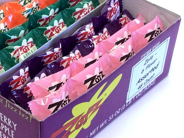Zotz - 6-flavor assorted strings - box of 48