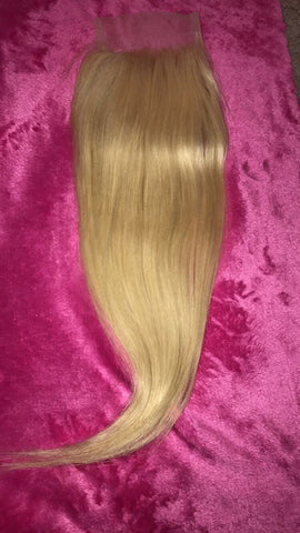 "Russian Blonde Straight ""closure"""