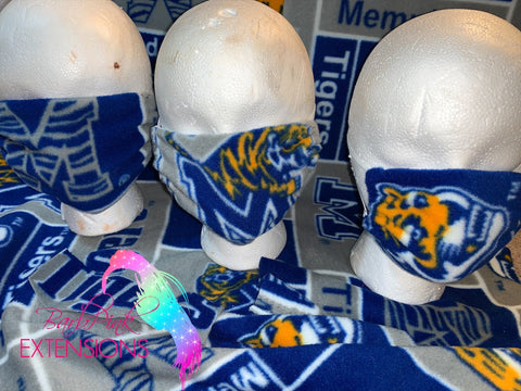 Memphis Madness (GO TIGERS GO) please specify in the comment section which mask style you would like.