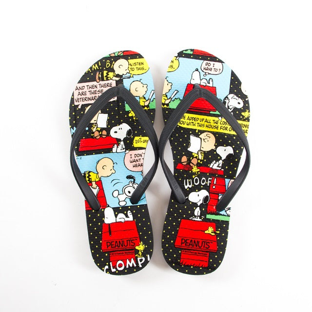 852a4bb8ba5 Snoopy Comic Strip Flip-Flops Sandals – SNPY ONLY