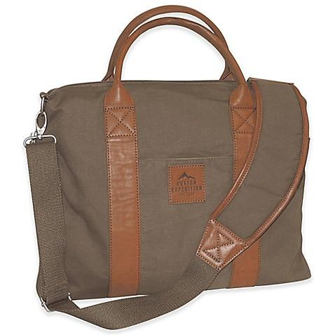 Buxton Affiliates Expedition Laptop Briefcase - Olive
