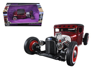 "1929 Ford Model A Candy Red ""Outlaws"" 1/24 Diecast Model Car by Maisto"