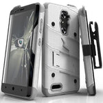 Zizo Bolt Case for ZTE Kirk Z988, 12 ft. Military Grade Drop Tested and Full Glass Screen Protector