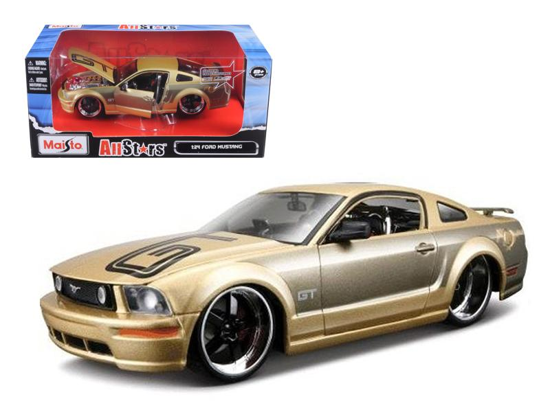 2006 Ford Mustang GT Gold Custom 1/24 Diecast Model Car by Maisto