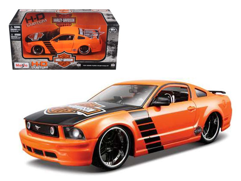 2006 Ford Mustang GT Harley Davidson Orange 1/24 Diecast Model Car by Maisto
