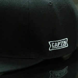 Blk BROOKLYN Letters Solid Color Patch Baseball Cap Side