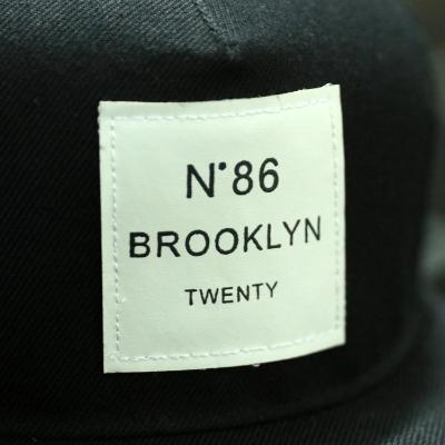Blk BROOKLYN Letters Solid Color Patch Baseball Cap Patch