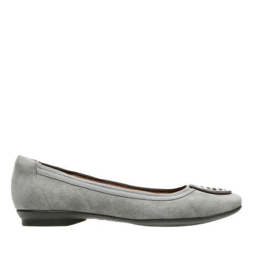 Clarks Womens Candra Blush In Grey Suede