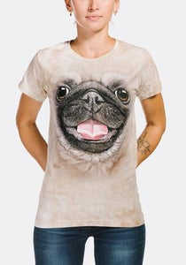Big Face Pug Puppy Women's T-Shirt