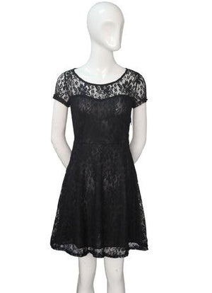 Black DNSDFS® Sexy Princess Summer Dress with Lace