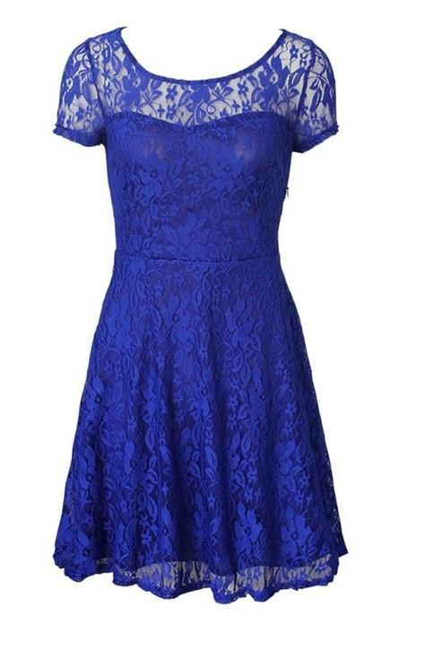Blue DNSDFS® Sexy Princess Summer Dress with Lace