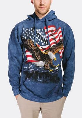 The Mountain Eagle Talon Flag Hoodie