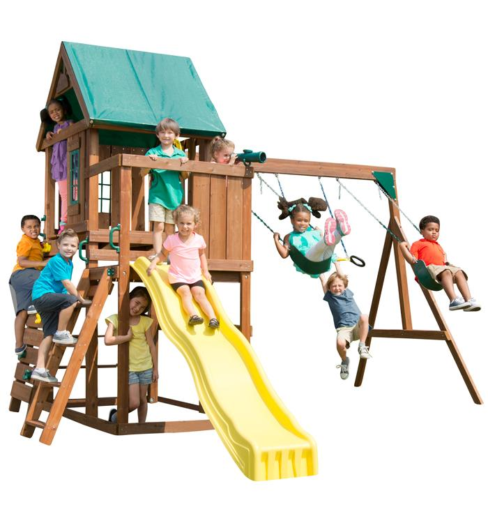Backyard Products, LLC Altamont Wood Complete Play Set