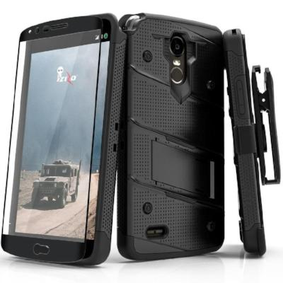 Zizo Bolt Case for LG Stylo 3 - 12 ft. Military Grade Drop Tested + Glass Screen Protector