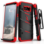 Zizo Bolt Case for Samsung Galaxy S8 - 12 ft. Military Grade Drop Tested + Glass Screen Protector