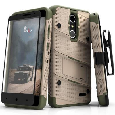 Zizo Bolt Case for ZTE Grand X 4 12 ft. Military Grade Drop Tested + Glass Screen Protector