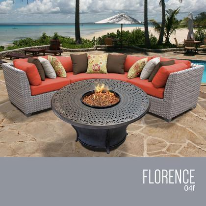 TANGERINE Florence 4 Piece Outdoor Wicker Patio Furniture Set