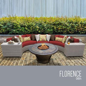 TERRACOTTA Florence 6 Piece Outdoor Wicker Patio Furniture Set