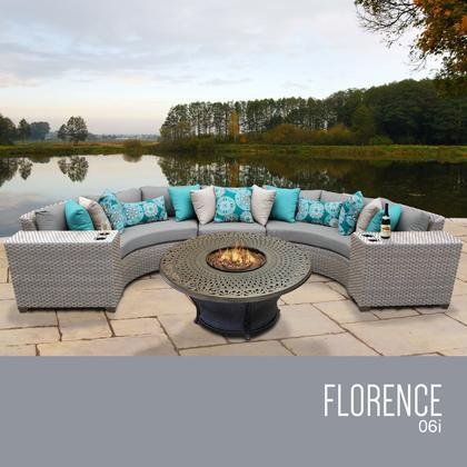 GREY Florence 6 Piece Outdoor Wicker Patio Furniture Set