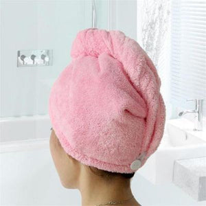 Pink Quick-Drying Hair Dry Cap