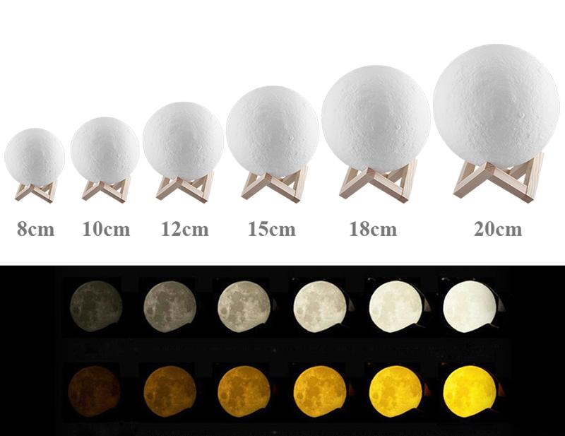 Luofu® 3D Moon Lamp LED Night Light ranges