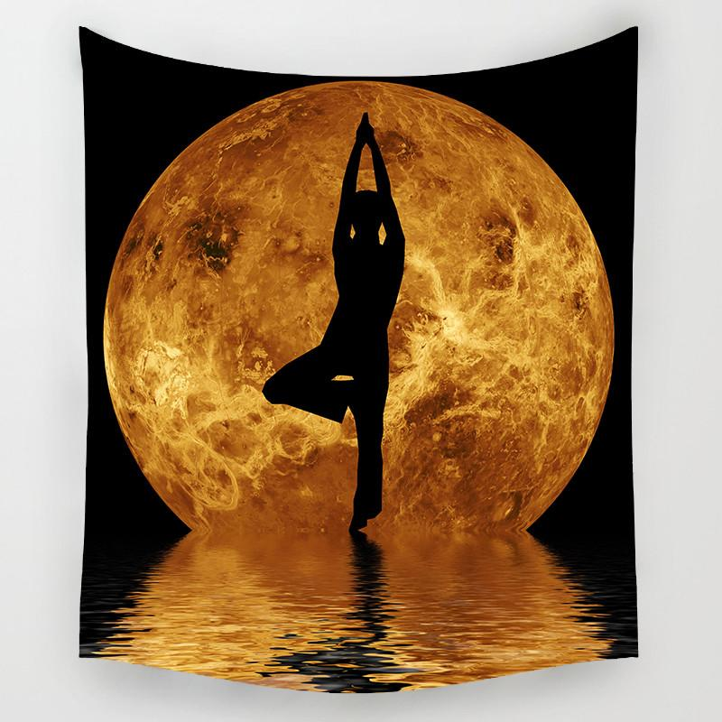 The Moon Hanging Tapestry