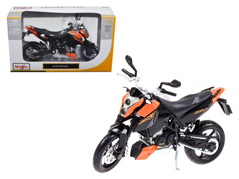 KTM 690 Duke Orange / Black Motorcycle 1/12 Diecast Model by Maisto
