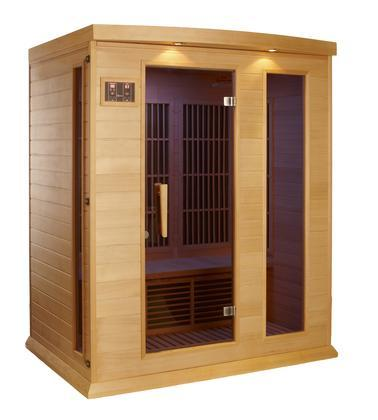 "HEMLOCK 75"" Low EMF Far Infrared Sauna with 3 Person Capacity"