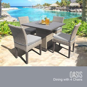 Oasis Square Dining Table with 4 Chairs with 1 Cover in