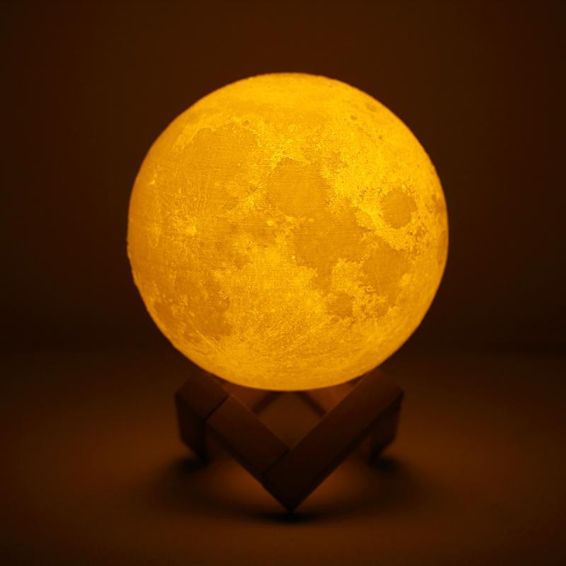Luofu® 3D Moon Lamp LED Night Light yellow light