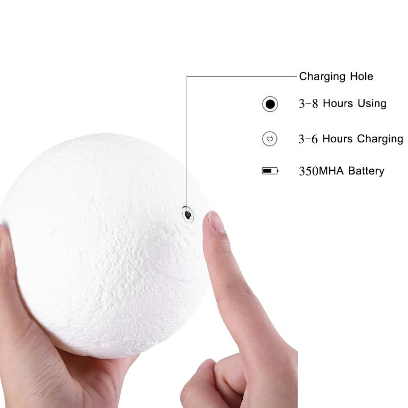 Luofu® 3D Moon Lamp LED Night Light charge it
