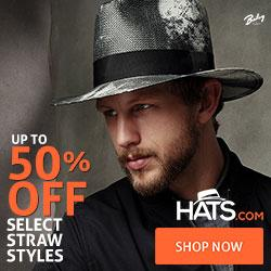 Select Straw Hats, 50% Off