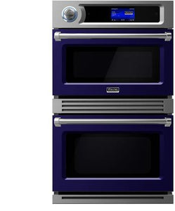 "Viking VDOT730CB 30"" TurboChef Speedcook Double Oven with 6.3 Total cu. ft. Capacity Halogen Lighting Self-Clean Function Patented Airspeed Technology in Cobalt (Product Feed)"