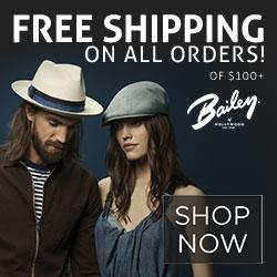 Bailey Hats, Free Shipping on All Orders
