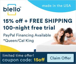 Blello Mattress 15% Off + Free Shipping + 100 night free trial