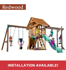 Backyard Products, LLC Circus with Monkey Bars swing and slide set