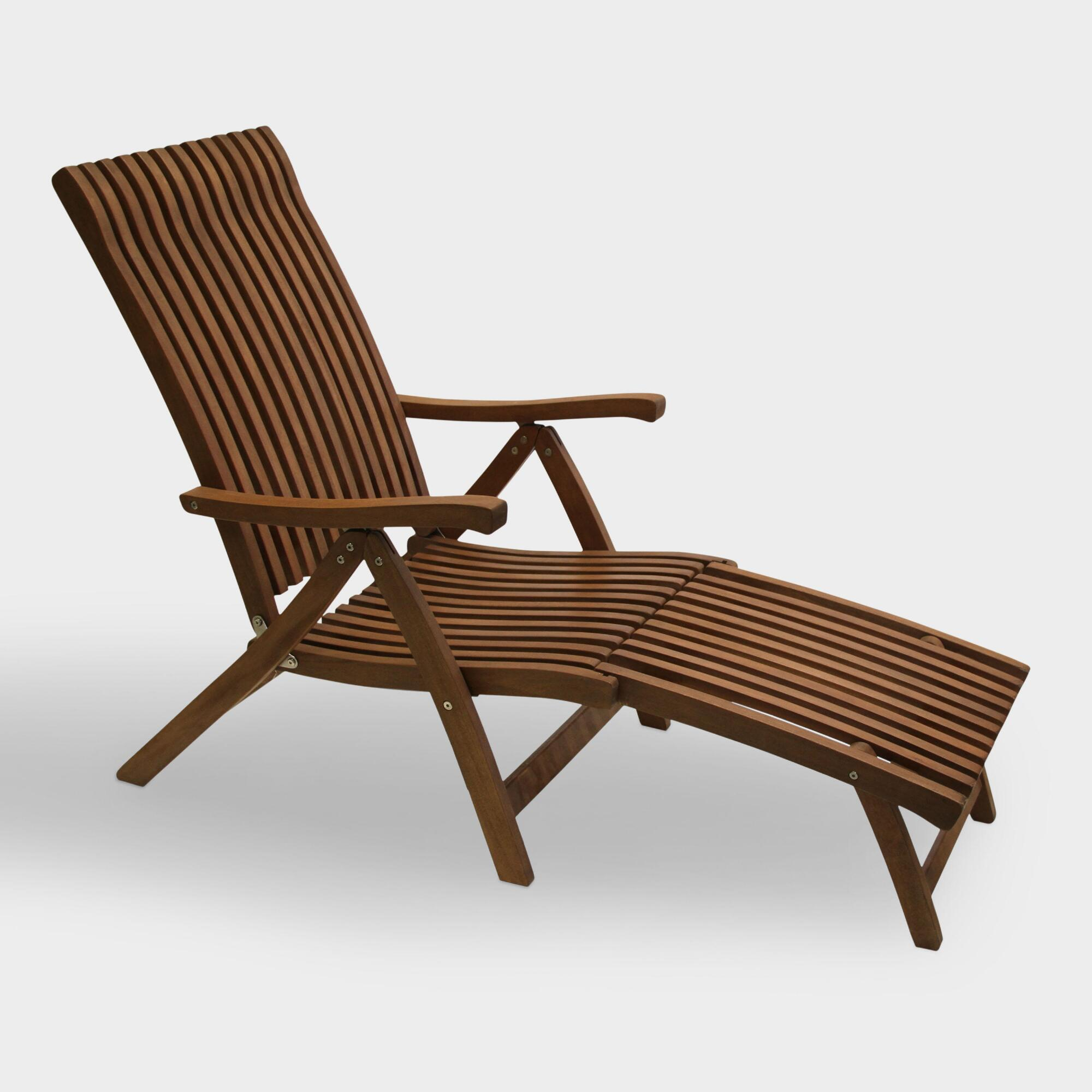 Wood Catania Steamer Lounger: Brown by World Market Cost Plus World Market